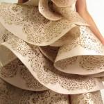 beautiful laser cut silk for Marchesa